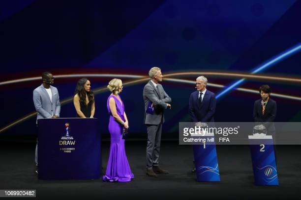 General view of the stage prior to the draw during the FIFA Women's World Cup France 2019 Draw at La Seine Musicale on December 8 2018 in Paris France