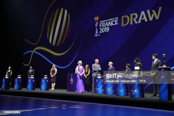 General view of the stage prior to the FIFA Women's World Cup France 2019 Draw at La Seine Musicale on December 8 2018 in Paris France