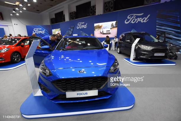 General view of the stand of the Ford car brand at the Automobile Trade Fair 2019 in Barcelona
