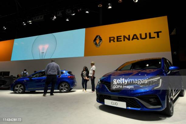 General view of the stand of the French automobile brand Renault at the Automobile Trade Fair 2019 in Barcelona