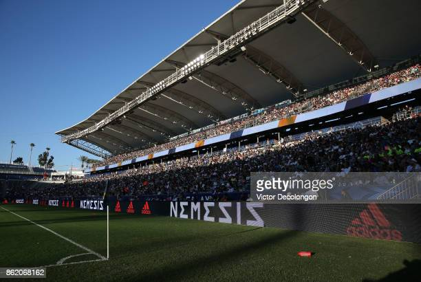 A general view of the stands during the MLS game between Minnesota United FC and the Los Angeles Galaxy at StubHub Center on October 15 2017 in...