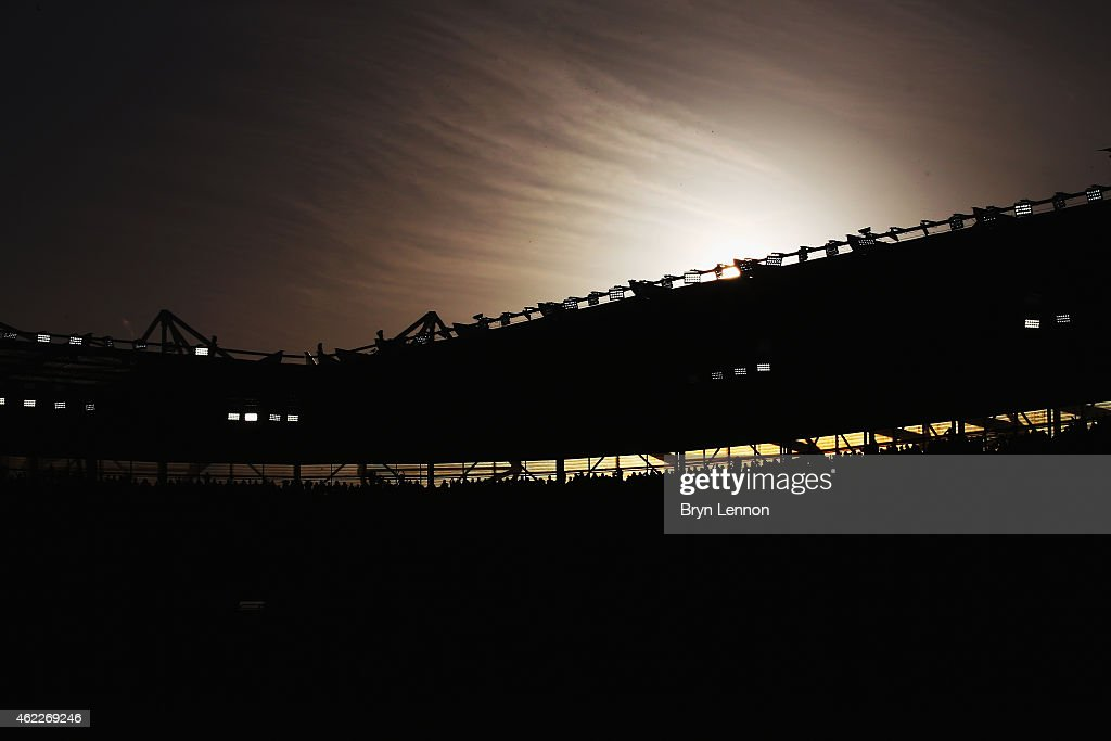 A general view of the stands inside St Mary's Stadium during the FA Cup Fourth Round match between Southampton and Crystal Palace at St Mary's Stadium on January 24, 2015 in Southampton, England.