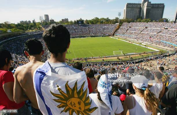 General view of the stands prior to the first leg of the FIFA 2006 World Cup Playoff between Uruguay and Australia at the Centenario Stadium November...