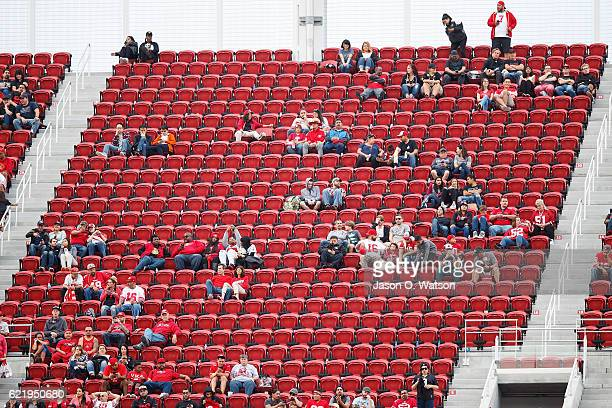 General view of the stands showing empty seats during the fourth quarter between the San Francisco 49ers and the New Orleans Saints at Levi's Stadium...