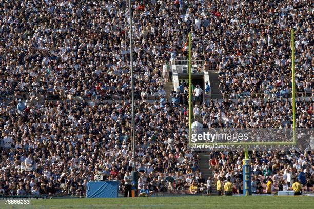 General view of the stands taken during the game between the UCLA Bruins and the BYU Cougars on September 8, 2007 at the Rose Bowl in Pasadena,...