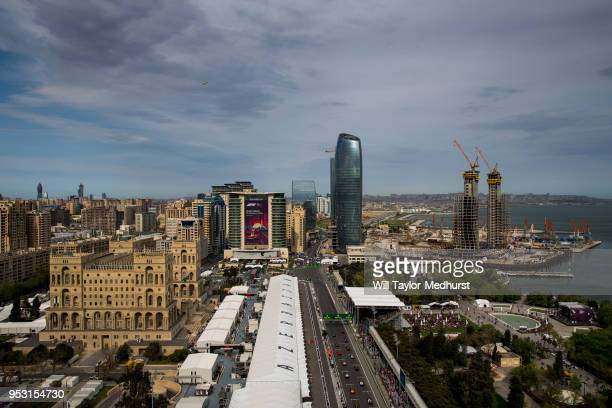A general view of the start during the Azerbaijan Formula One Grand Prix at Baku City Circuit on April 29 2018 in Baku Azerbaijan