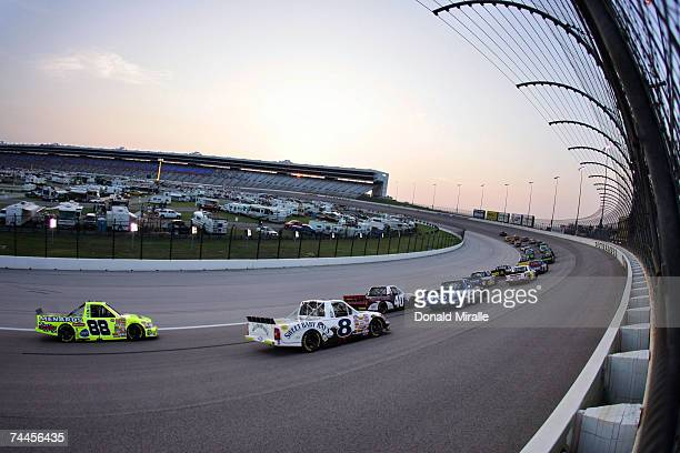 A general view of the start during the Sam's Town 400 part of the Nascar Craftsman Truck Series on June 8 2007 at Texas Motor Speedway at Fort Worth...