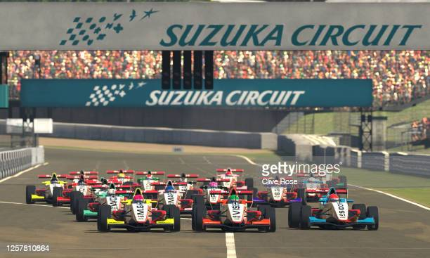 General view of the start during the W Series Esports League Round 7 at Suzuka International Racing Course on July 23, 2020 in Suzuka, Japan.