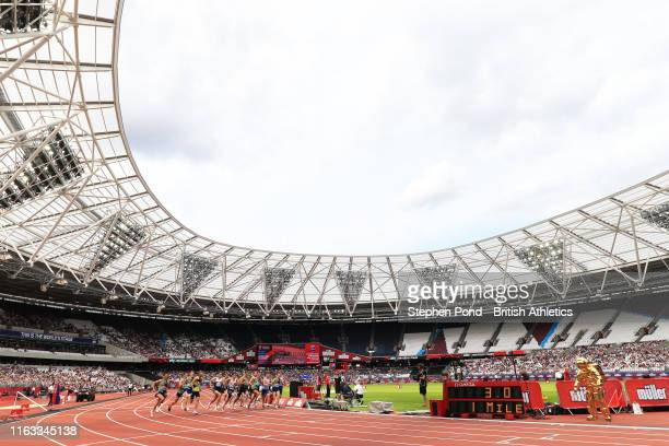 General view of the start of the Emsley Carr 1 Mile during Day Two of the Muller Anniversary Games IAAF Diamond League event at the London Stadium on...