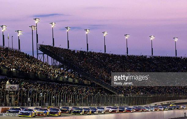 A general view of the start of the NASCAR Busch Series Diamond Hill Plywood 200 at the Darlington Raceway on May 6 2005 in Darlington South Carolina