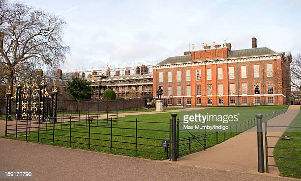 A general view of the State Apartments of Kensington Palace and Apartment 1A which is covered in scaffolding whilst refurbishment works are being...