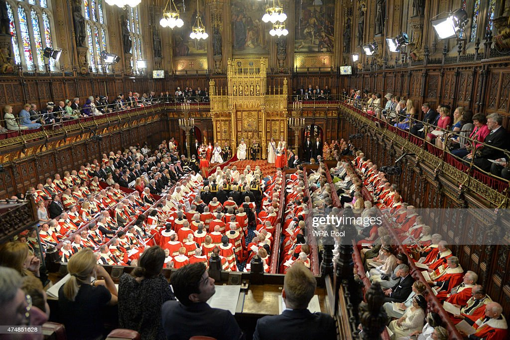 A general view of the State Opening of Parliament in the House of Lords, at the Palace of Westminster on May 27, 2015 in London, England.