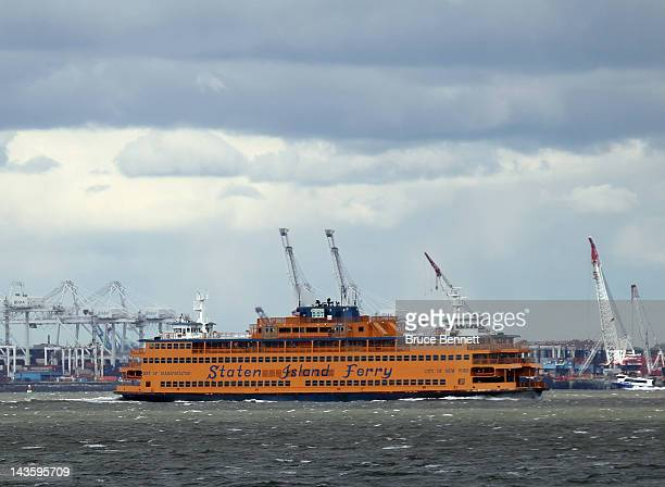 General view of the Staten Island Ferry as photographed on April 27, 2012 from the Red Hook section of Broooklyn, New York.