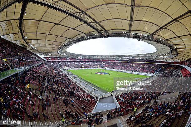 A general view of the stdium prior to the Second Bundesliga match between VfB Stuttgart and DSC Arminia Bielefeld at MercedesBenz Arena on November 6...