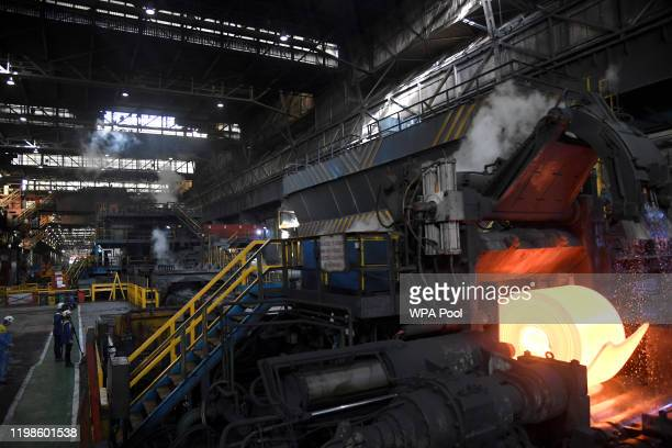 General view of the steel rolling mill ahead of the visit by Prince William, Duke of Cambridge and Catherine, Duchess of Cambridge to Tata Steel on...