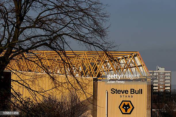 A general view of the Steve Bull stand at Molineux ahead of the Barclays Premier League match between Wolverhampton Wanderers and Tottenham Hotspur...