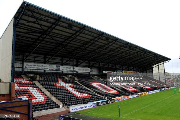 General view of the Stobart Stadium, home to Widnes Vikings