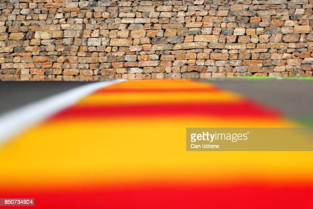 A general view of the stone wall at turn 13 during previews for the MotoGP of Aragon at Motorland Aragon Circuit on September 21 2017 in Alcaniz Spain