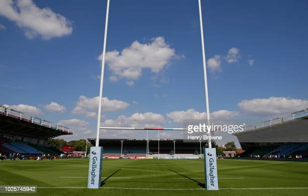 General view of the Stoop before the Gallagher Premiership Rugby match between Harlequins and Sale Sharks at Twickenham Stoop on September 1 2018 in...