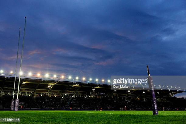 A general view of the Stoop during the European Rugby Challenge Cup Final match between Edinburgh and Gloucester at the Twickenham Stoop on May 1...