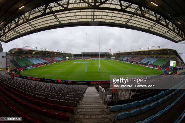 A general view of The Stoop home of Harlequins during the Gallagher Premiership Rugby match between Harlequins and Saracens at Twickenham Stoop on...
