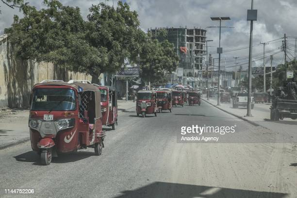 General view of the streets in Mogadishu Somalia on May 18 2019 People in Mogadishu have been struggling with the harsh conditions caused by the...