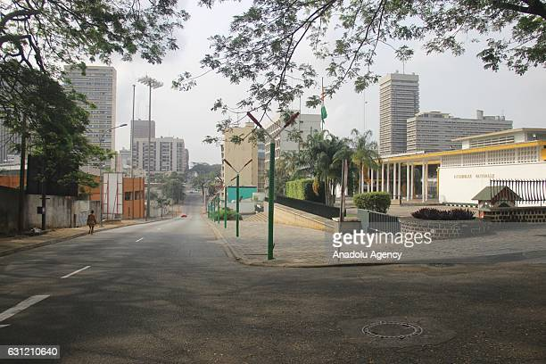 A general view of the streets of Abidjan on January 8 where calm has returned as Ivory Coast's soldiers withdrew after the country's president...