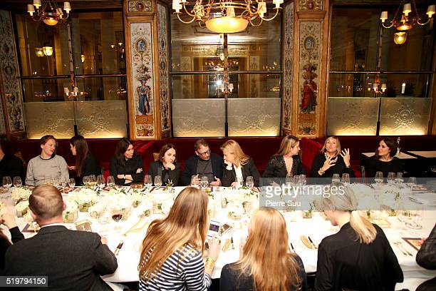 General View of the Stuart Weitzman Dinner at Le Grand Defour on April 06 2016 in Paris France