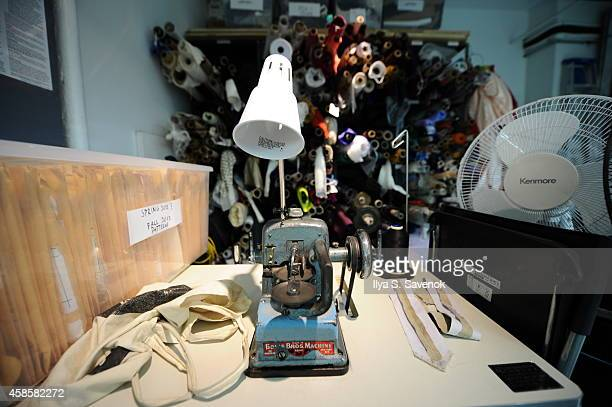 A general view of the studio space at fashion designer Bibhu Mohapatra's studio on November 7 2014 in New York City in preparation for the showing of...