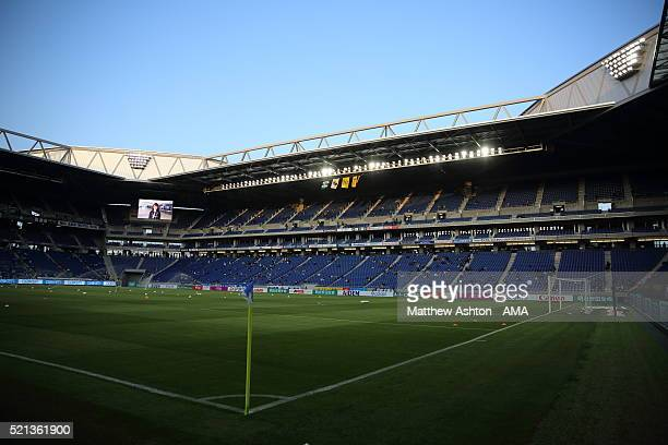 A general view of the Suita City Football Stadium before the JLeague match between Gamba Osaka and Kashiwa Reysol at the Suita City Football Stadium...