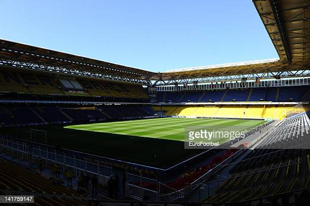 General view of the Sukru Saracoglu Stadium home of Fenerbahce SK taken during the Turkish Spor Toto Super Lig match between Fenerbahce SK and...