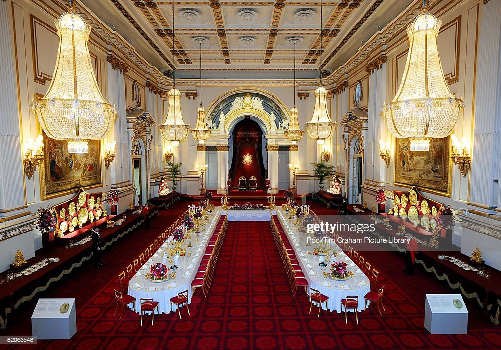 General View Of The Summer Opening Exhibition At Buckingham Palace London  The Ballroom Has Been Arranged