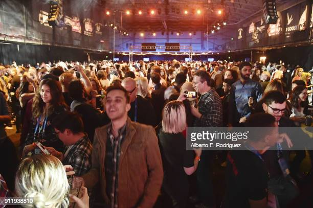 A general view of the Sundance Film Festival Awards Night Party at Basin Recreation Field House on January 27 2018 in Park City Utah