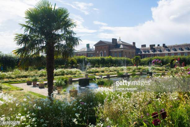 A general view of the Sunken Garden which has been transformed into a White Garden in memory of Princess Diana at Kensington Palace on August 31 2017...