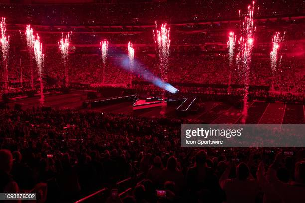 A general view of the Super Bowl Pepsi Halftime Show during Super Bowl LIII between the Los Angeles Rams and the New England Patriots on February 3...