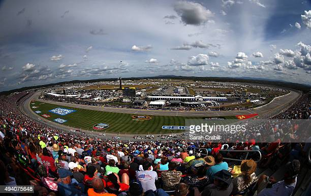 A general view of the super speedway during the NASCAR Camping World Truck Series fred's 250 at Talladega Superspeedway on October 24 2015 in...