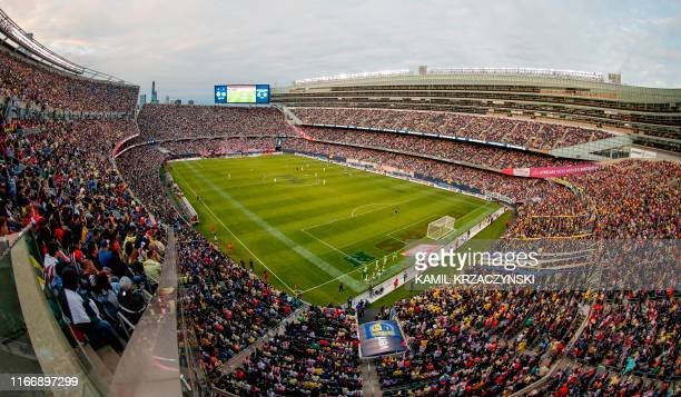 General view of the Superclasico 2019 football match between Club America and Chivas de Guadalajara during the first half on September 8 2019 at...