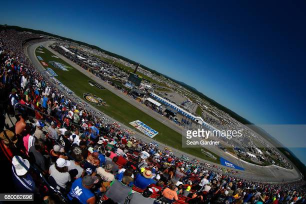 A general view of the superspeedway as cars race during the Monster Energy NASCAR Cup Series GEICO 500 at Talladega Superspeedway on May 7 2017 in...