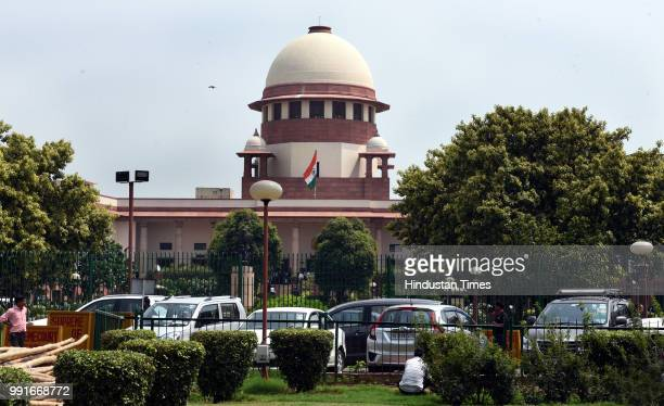 A general view of the Supreme Court during the verdict in the case related to the power tussle between the Centre and Delhi government in which a...