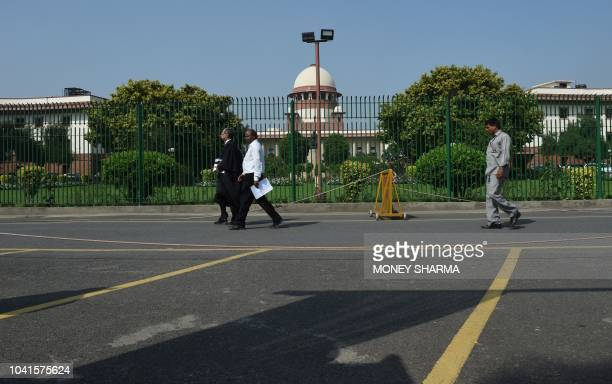A general view of the Supreme court of India is pictured in New Delhi on September 27 2018 Adultery is no longer a crime India's top court ruled...
