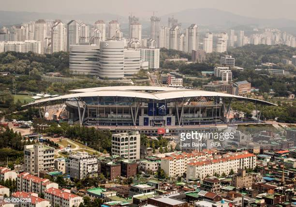 General view of the Suwon World Cup Stadium on May 17, 2017 in Suwon, South Korea. The FIFA U-20 World Cup Korea Republic 2017 will kick off on May...