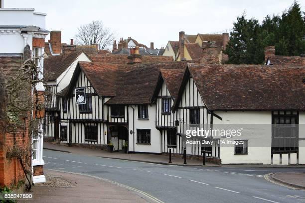 General view of the Swan Hotel and Restaurant in Lavenham Village Suffolk