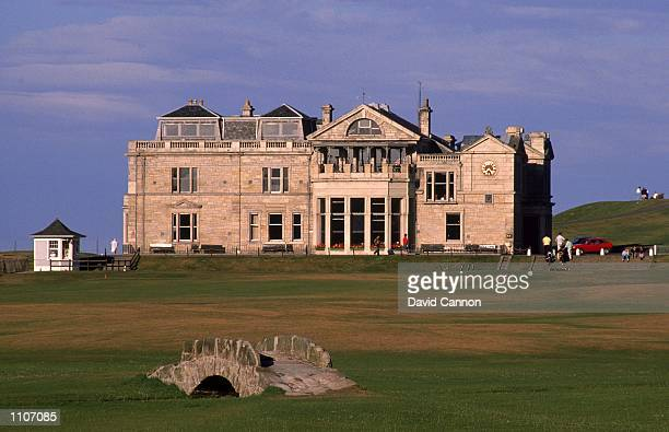 General view of the Swilken Bridge and the Clubhouse on the Old Course at St Andrews in Fife Scotland Mandatory Credit David Cannon /Allsport