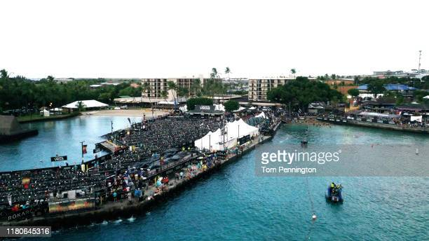 A general view of the swim course during the Ironman World Championships on October 12 2019 in Kailua Kona Hawaii
