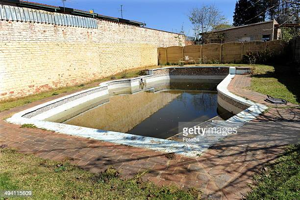 A general view of the swimming pool where a father tried to drown his son after beating him up on May 27 2014 in Springs South Africa A 36yearold man...