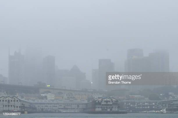 A general view of the Sydney CBD on February 07 2020 in Sydney Australia A severe weather warning is in place for Sydney and most of the NSW coast...