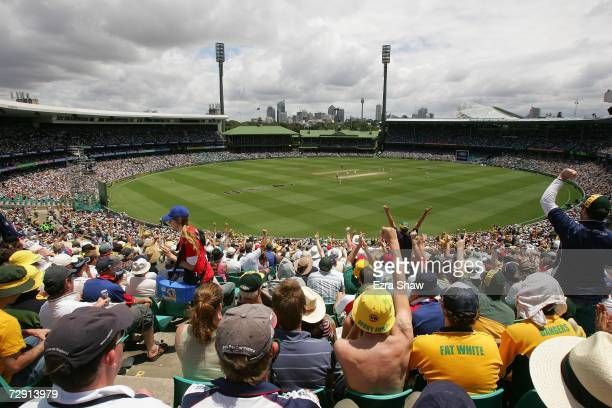 A general view of the Sydney Cricket Ground during day two of the fifth Ashes Test Match between Australia and England at the Sydney Cricket Ground...