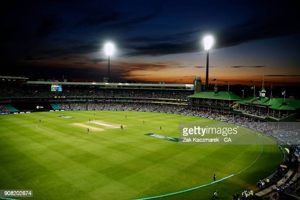 A general view of the Sydney Cricket Ground during game three of the One Day International series between Australia and England at Sydney Cricket...
