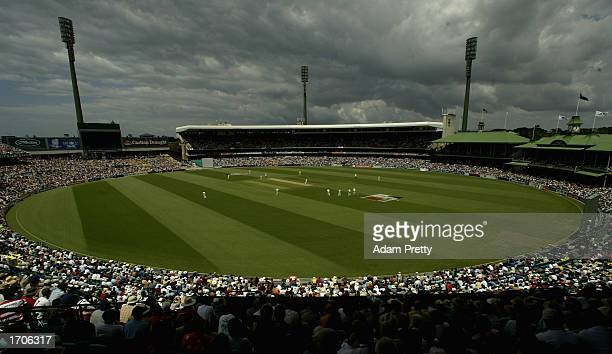 General view of the Sydney Cricket Ground during the first day of the fifth Ashes Test between Australia and England at the Sydney Cricket Ground in...