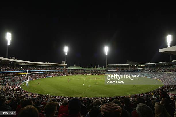 General view of the Sydney Cricket Stadium and crowd during the round five ANZAC Day AFL match between the Sydney Swans and the Melbourne Demons...
